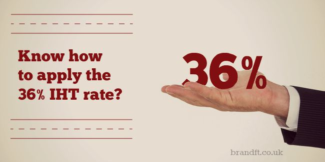 Know how to apply the 36% IHT rate?