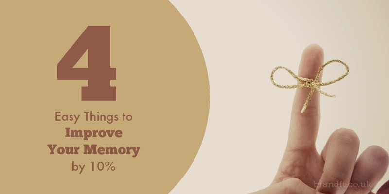 4 Easy Things to Improve Your Memory by 10%