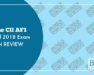 The CII AF1 April 2018 Exam in Review