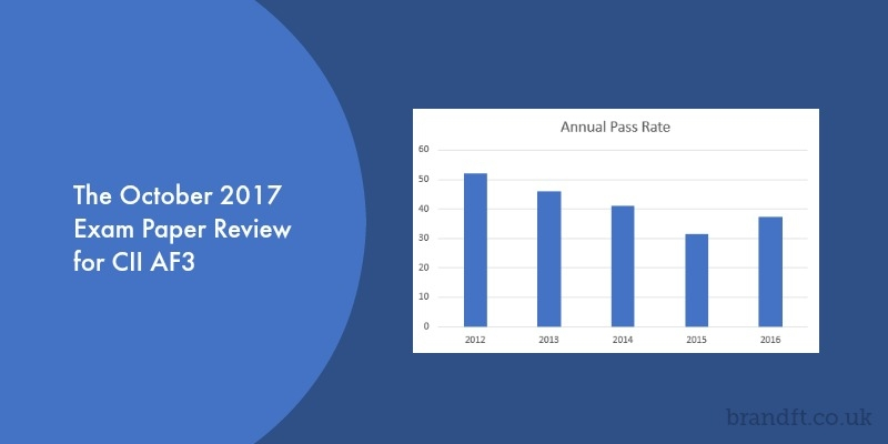 The October 2017 Exam Paper Review for CII AF3