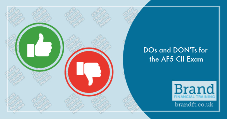 DOs and DON'Ts for the AF5 CII Exam