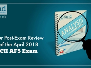 Our Post-Exam Review of the April 2018 CII AF5 Exam