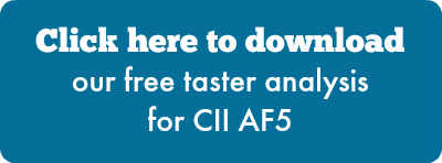 Click here to download our free taster analysis for CII AF5