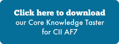 Click here to download our Core Knowledge Taster for CII AF7