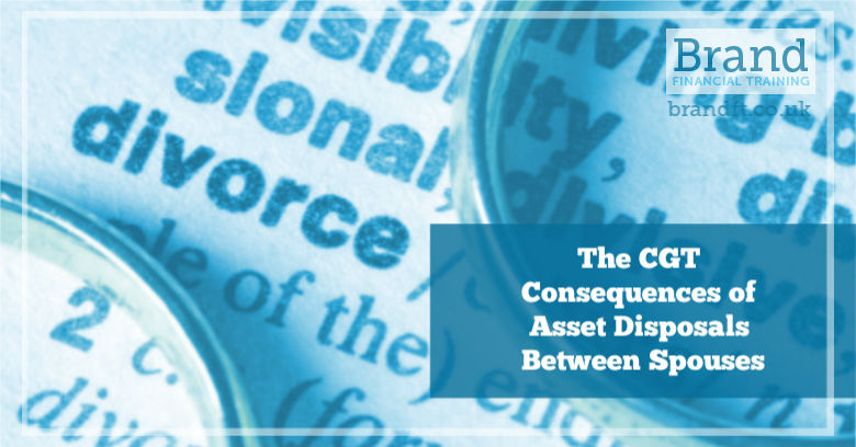 The CGT Consequences of Asset Disposals Between Spouses