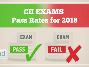 CII Exams Pass Rates for 2018