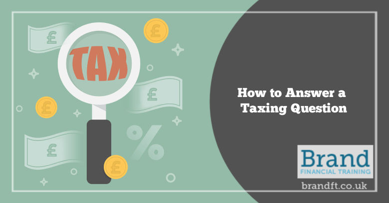 How to Answer a Taxing Question