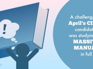 A challenge for April 2017's CII J03 candidates was studying the massive manual in full