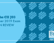 The CII J03 October 2019 Exam in Review