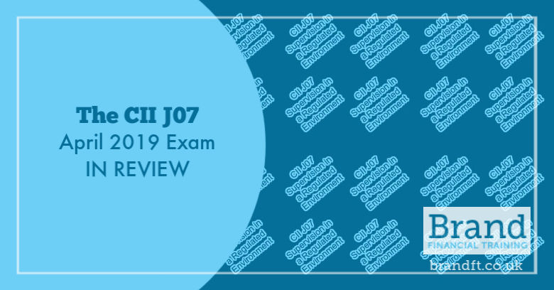 Title Image: The CII J07 April 2019 Exam in Review