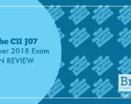 The CII J07 October 2018 Exam in Review
