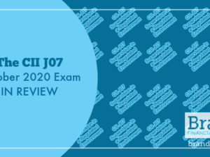 The CII J07 October 2020 Exam in Review
