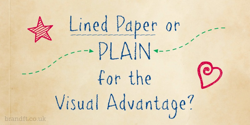Lined Paper or Plain for the Visual Advantage?
