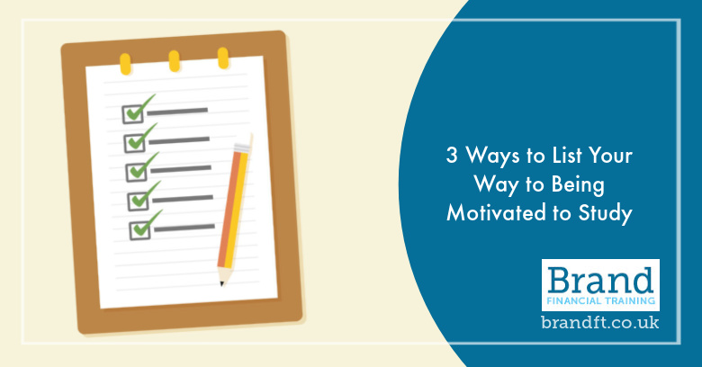 3 Ways to List Your Way to Being Motivated to Study