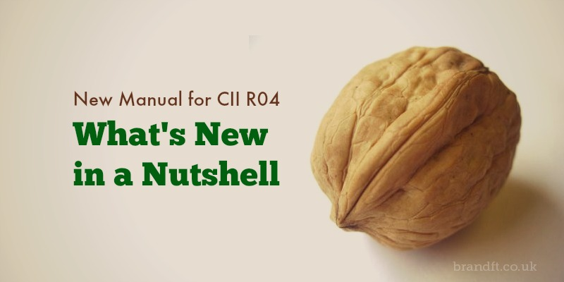 New Manual for CII R04 - What's New, in a Nutshell