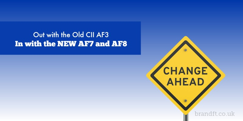 Out With the Old CII AF3 - In With the New AF7 and AF8
