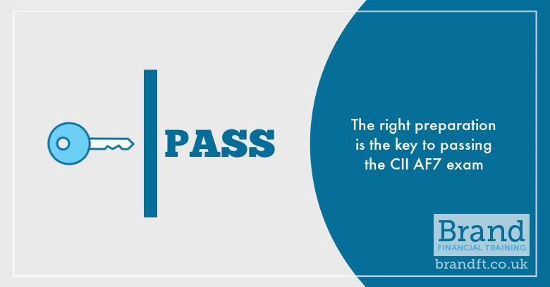 The right preparation is the key to passing the CII AF7 exam