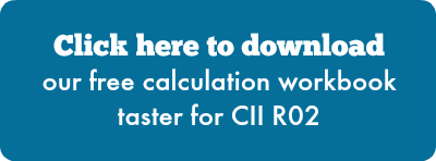 Click here to download our free calculation workbook taster for CII R02