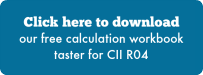 Click here to download our free calculation workbook taster for CII R04