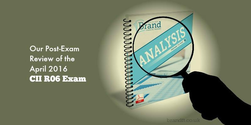 Our Post-Exam Review of the April 2016 CII R06 Exam