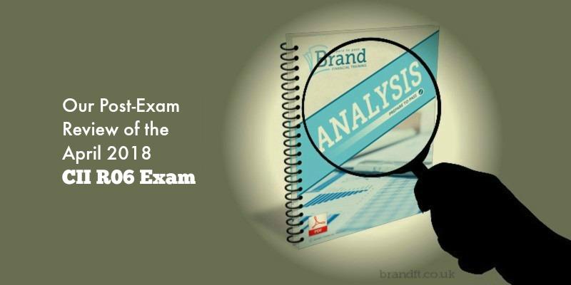 Our Post-Exam Review of the April 2018 CII R06 Exam