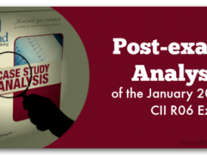 Post-exam Analysis of the January 2015 CII R06 Exam