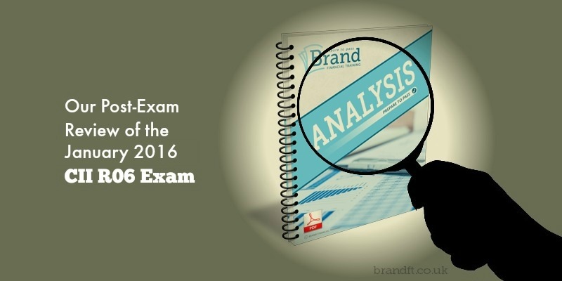 Our Post-Exam Review of the January 2016 CII R06 Exam